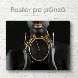 Poster, Fată neagră cu ceas