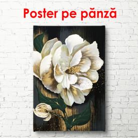 Poster, Floare albă pictată