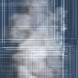 Poster, Fundal albastru abstract și nori