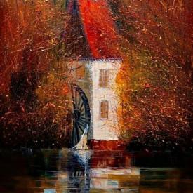 Poster, Imaginea unei mori de apă