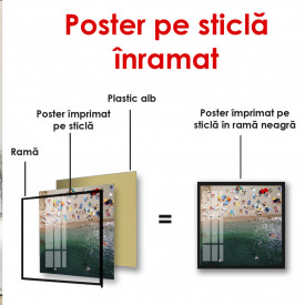 Poster, Vedere spre plajă de sus