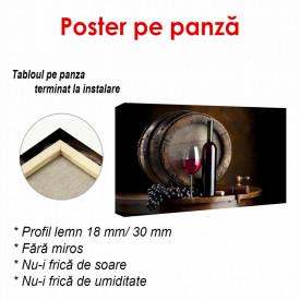 Poster, Vinul roșu și un butoi