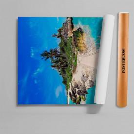 Stickere 3D pentru uși, Insula pierdută, 1 foaie de 80 x 200 cm
