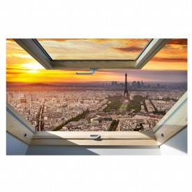 Stickere pentru pereți, Fereastra cu vedere spre Paris