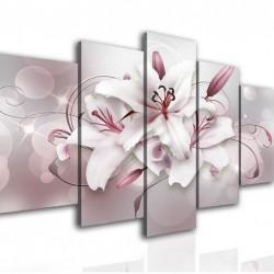 Tablou modular, Crin pe un fundal roz