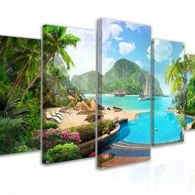 Tablou modular, Insula tropicala