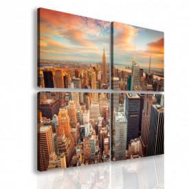 Tablou modular, New York-ul seara.