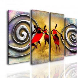 Tablou modular, Pictura africana