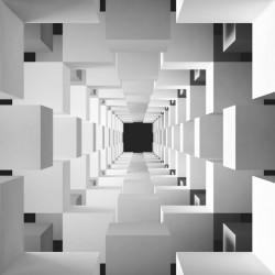 Fototapet 3D, Geometrie în alb-negru