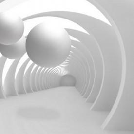 Fototapet 3D, Sfere albe