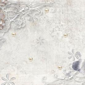 Fototapet Fantezie, Flori albastre gingașe pe un fond gri