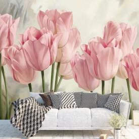 Fototapet, Lalele roz