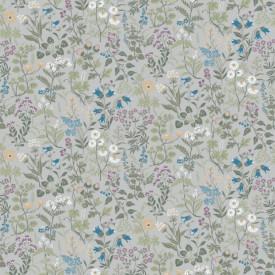 Fototapet, Motive florale delicate în albastru