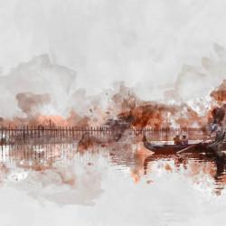 Fototapet, O călătorie cu barca în largul mării