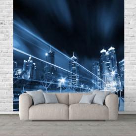 Fototapet, Orașul în culori albastre