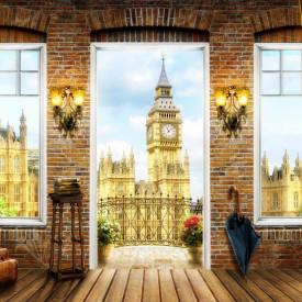 Fototapet, Priveliște de la balconul capelei