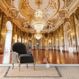 Fototapet, Sala de bal cu pereți aurii