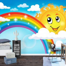 Fototapet, Soare și curcubeu