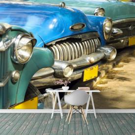 Fototapete cu vedere la o parcare colorată.