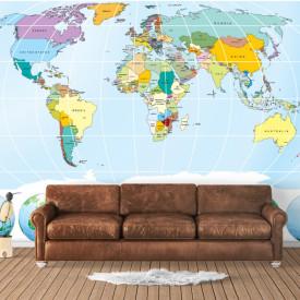 Fototapete, Harta albastră cu globuri