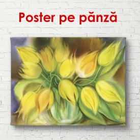 Poster, Buchetul de flori galbene pe masa