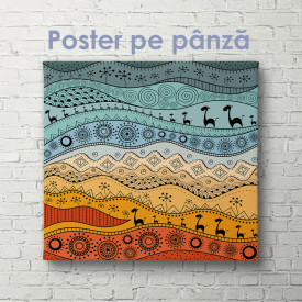 Poster, Desen etnografic african