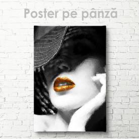 Poster, Doamnă într-o pălărie cu buze strălucitoare