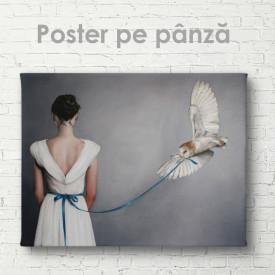 Poster, Fată cu bufniță