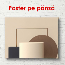 Poster, Forme geometrice în culori palide