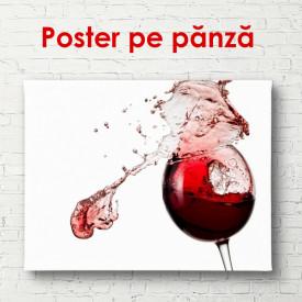 Poster, Paharul cu vin roșu pe un fundal alb
