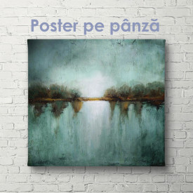 Poster, Peisaj turcoaz în stil abstract