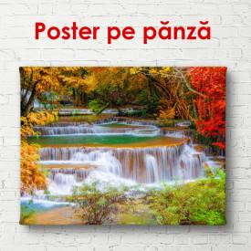 Poster, Peisajul frumos cu o cascadă