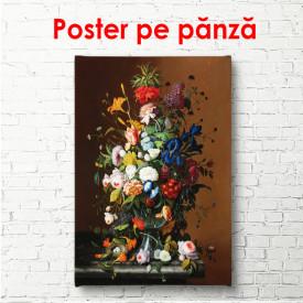 Poster, Pictură cu flori de primăvară colorate