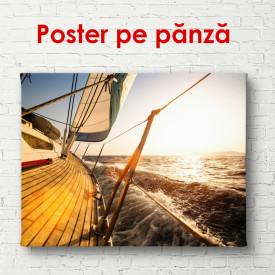Poster, Plimbarea pe mare la apusul