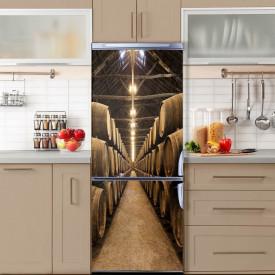 Stickere 3D pentru uși, Butoaie de vin, 1 foaie de 80 x 200 cm