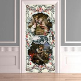 Stickere 3D pentru uși, În lumea copiilor , 1 foaie de 80 x 200 cm