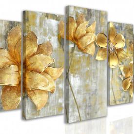 Tablou modular, Flori aurii mari
