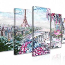 Tablou modular, Vedere spre orașul romantic