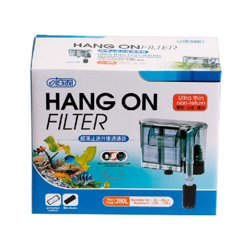 Filtru cascada ultra subtire 380L/H,250x85x150mm,valva anti retur-Hang-On Filter