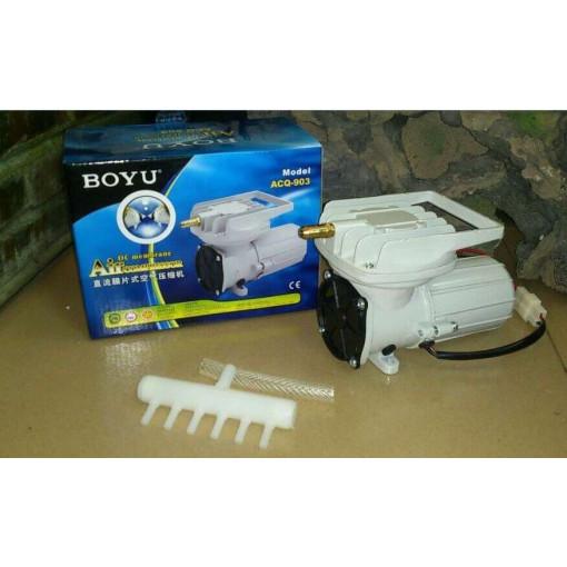 Compresor aer acvariu/iaz BOYU la 12V 38L/min- ACQ-902