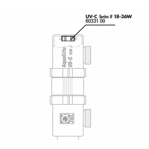 JBL Protectie pentru sticla quartz UV -C18/36W