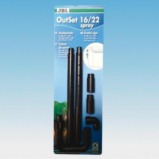 Set refulare cu tevi spray pentru filtru acvariu JBL OutSet spray 16/22 (CP e1500)