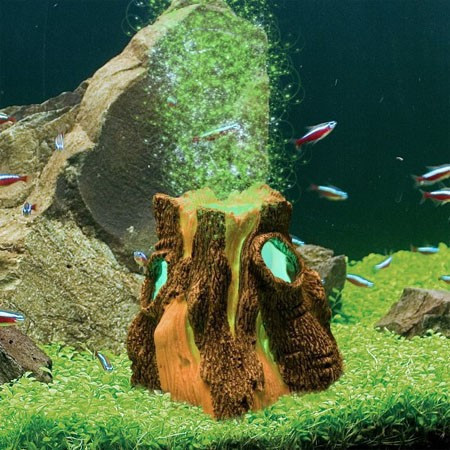 Decor acvariu H2Show imitație de lemn