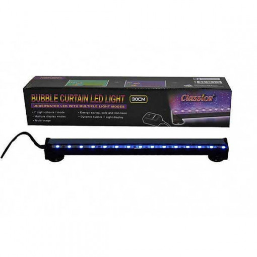 Perdea aer acvariu LED 30 cm