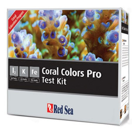 Teste apa marina Reef Colors Pro MultiTest Kit (I2,K,Fe) - RED SEA