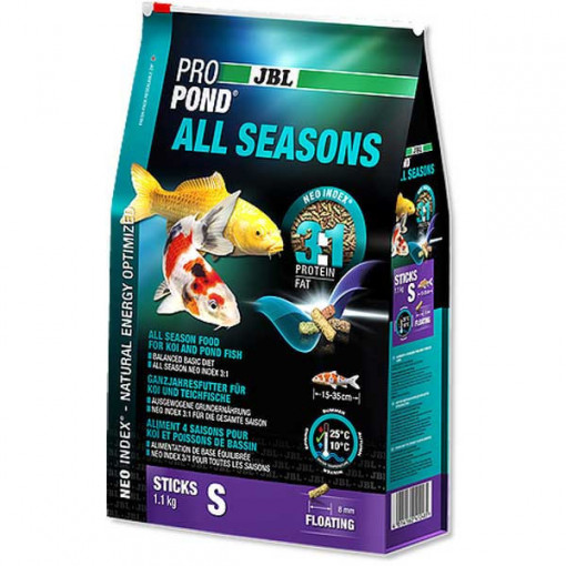 Hrana pesti iaz, pentru toate anotimpurile JBL ProPond All Seasons S 2,2 kg