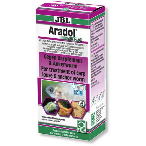 Medicament pesti acvariu JBL Aradol Plus 250 / 100ml pentru 500 l RO