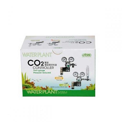 Controller CO2, 2 manometre, valva solenoid Germania, numarator de bule, supapa sens, iesire butelie laterala