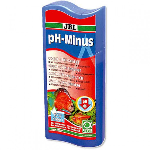 Solutie tratare apa JBL pH-Minus 100 ml pentru 400 l