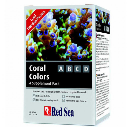 Supliment marin RED SEA Coral Colors ABCD – 4x100 ml